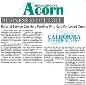 California Senior Living in Thousand Oak's Acorn